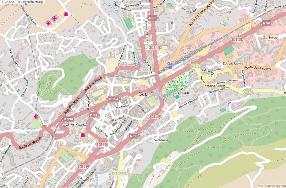 Gap Map France Latitude Longitude Free France Maps