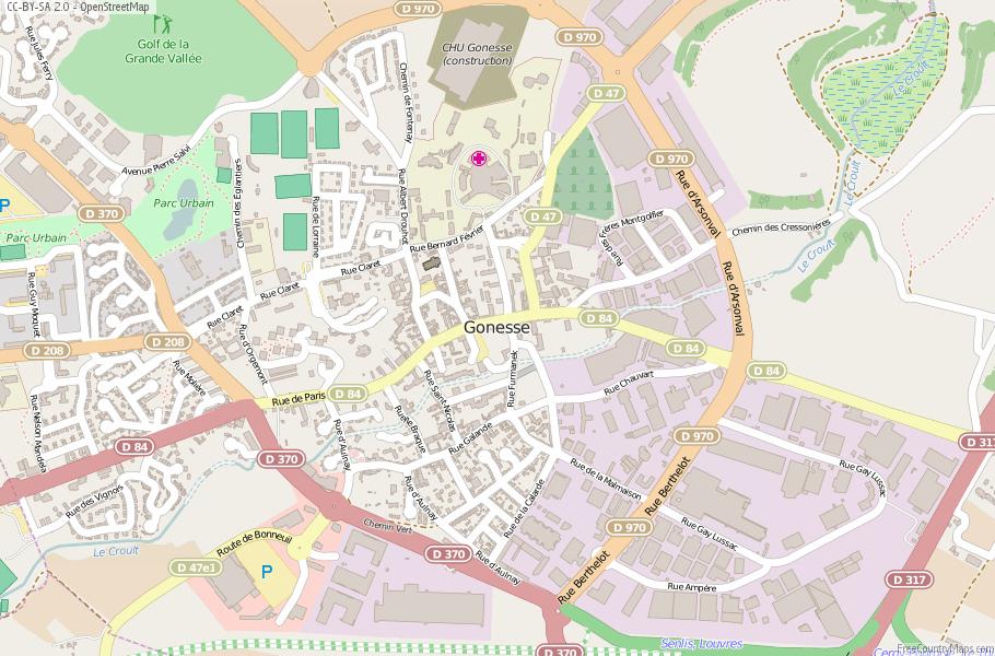 Gonesse France Map