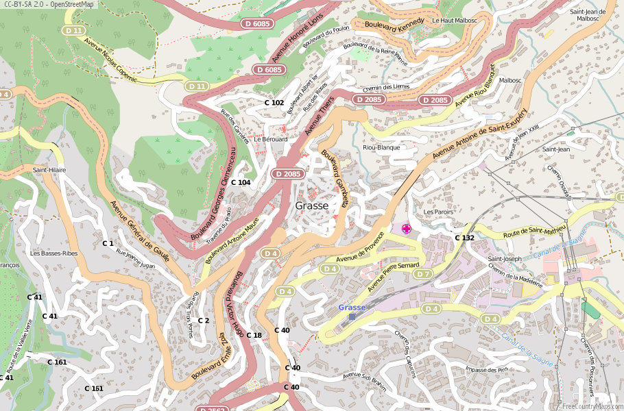 Grasse France Map