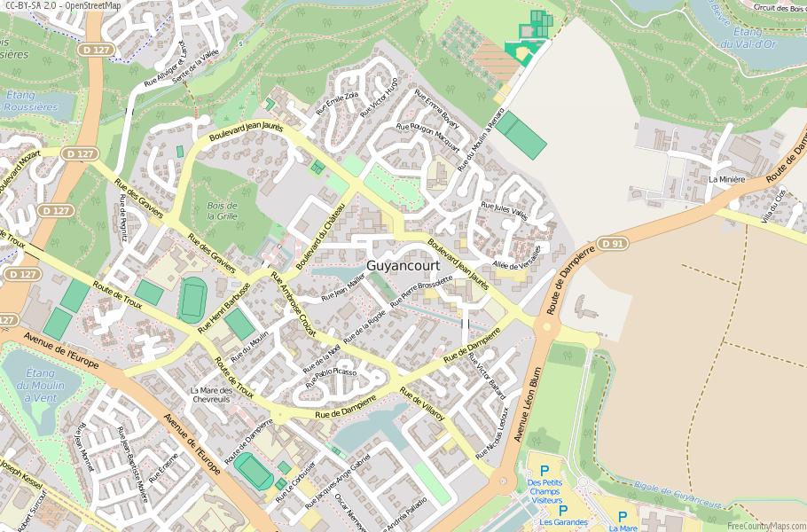 Guyancourt France Map