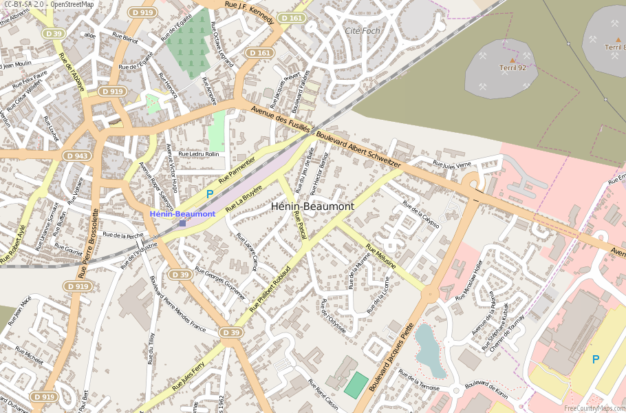 Hénin-Beaumont France Map