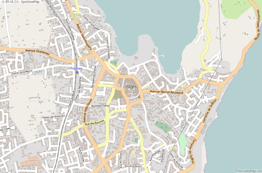Istres France Map