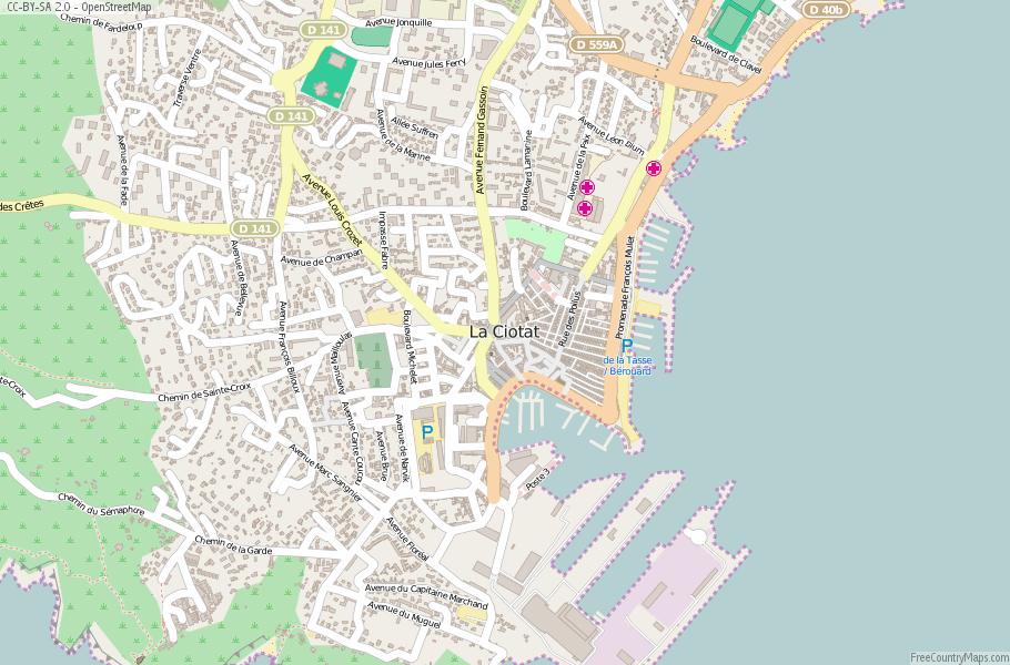 La Ciotat France Map