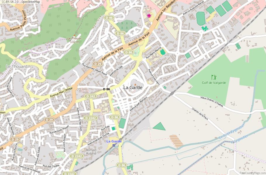 La Garde France Map
