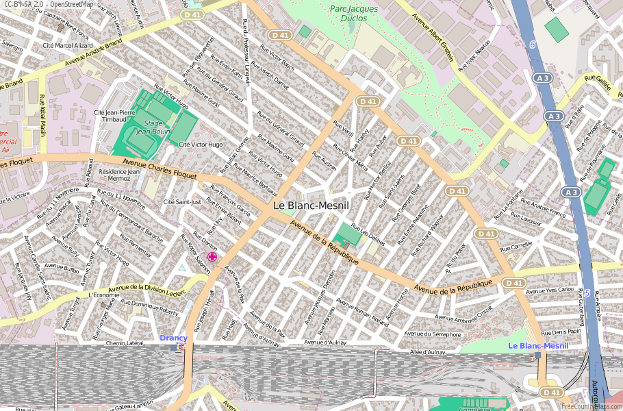 Le Blanc-Mesnil France Map