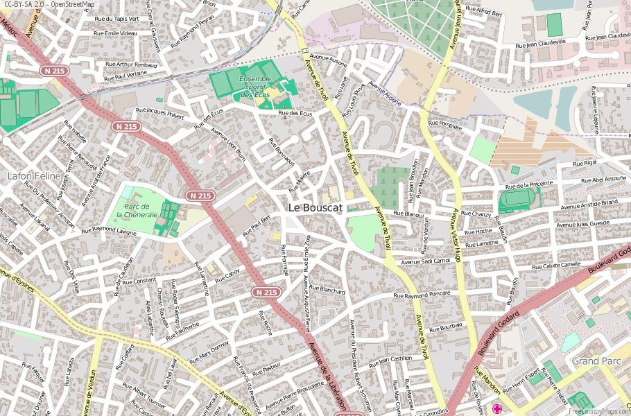 Le Bouscat France Map