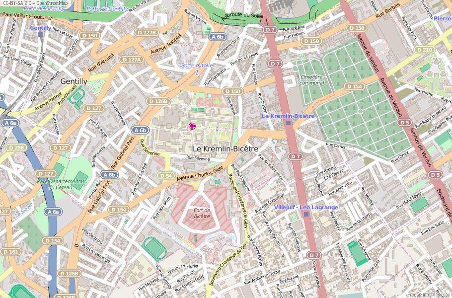 Le Kremlin-Bicêtre France Map