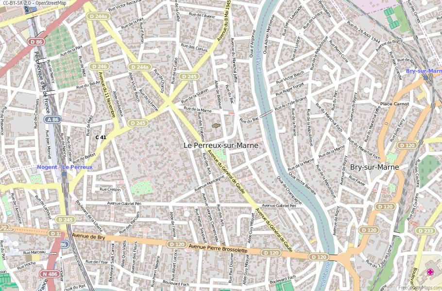 Le Perreux-sur-Marne France Map