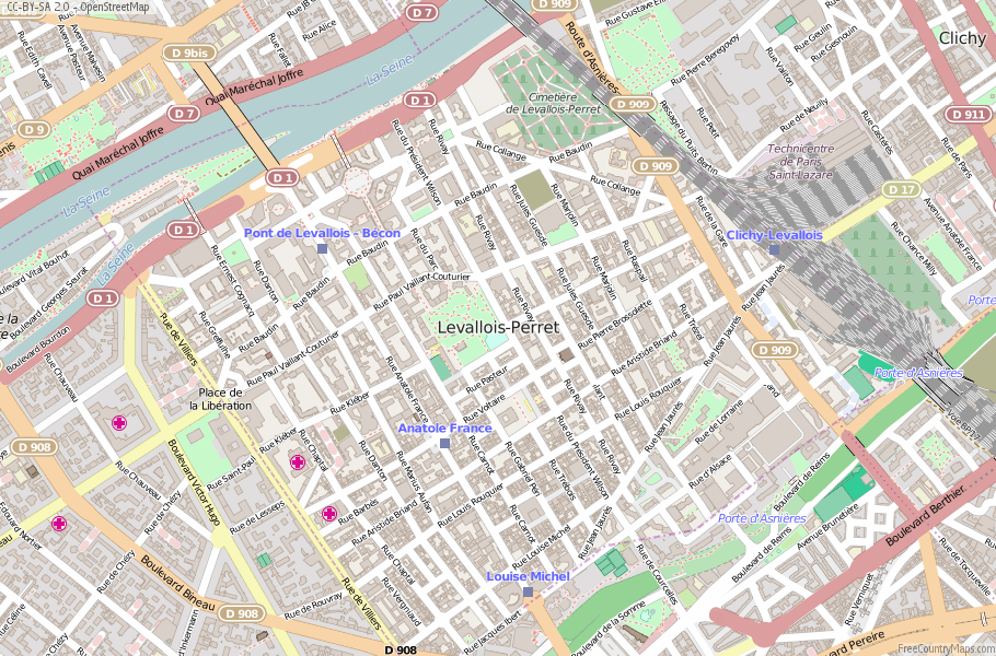 Levallois-Perret France Map