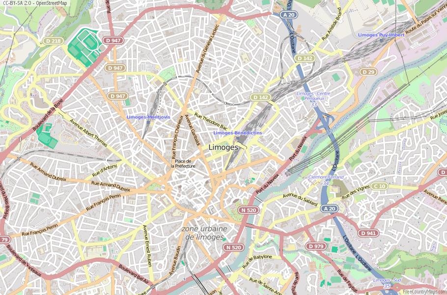 Limoges France Map.Limoges Map France Latitude Longitude Free Maps