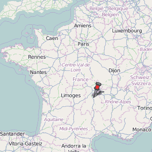 ClermontFerrand Map France Latitude Longitude Free France Maps