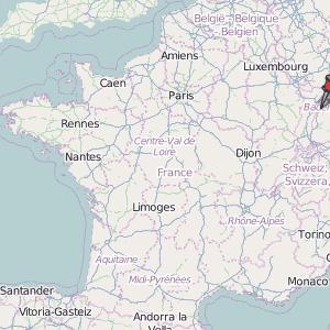 Strasbourg Map France Latitude Longitude Free France Maps