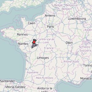 Bressuire Map France Latitude & Longitude: Free Maps