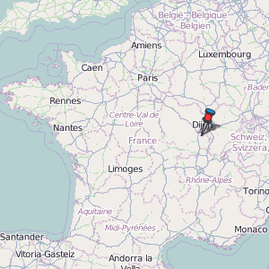 Beaune Map France Latitude Longitude Free France Maps - Luxembourg clickable map