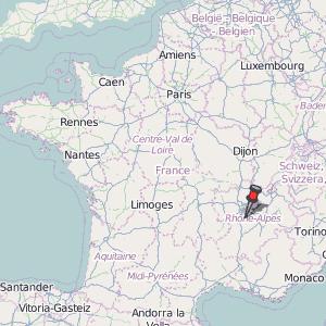 Vienne Map France Latitude Longitude Free Maps