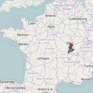 Cluny France Map.Cluny Map France Latitude Longitude Free Maps