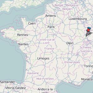 Munster Map France Latitude Longitude Free France Maps