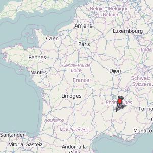 SaintMarcellsValence Map France Latitude Longitude Free
