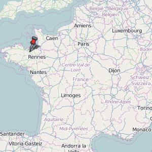Lamballe Map France Latitude Longitude Free France Maps - Latitude and longitude of france