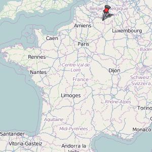 PontsurSambre Map France Latitude Longitude Free France Maps