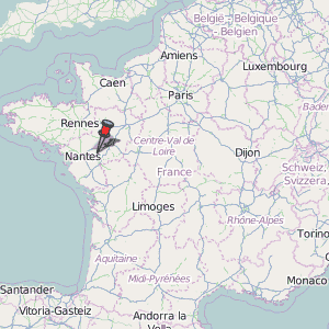 Ancenis Map France Latitude Longitude Free Maps