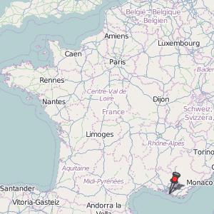 Marseille Map France Latitude Longitude Free France Maps
