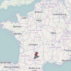 Montauban Map France Latitude Longitude Free France Maps
