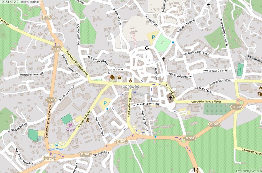 Lorgues France Map