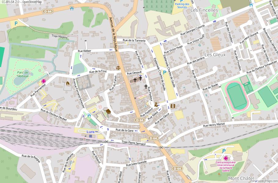 Lure Map France Latitude Longitude Free France Maps