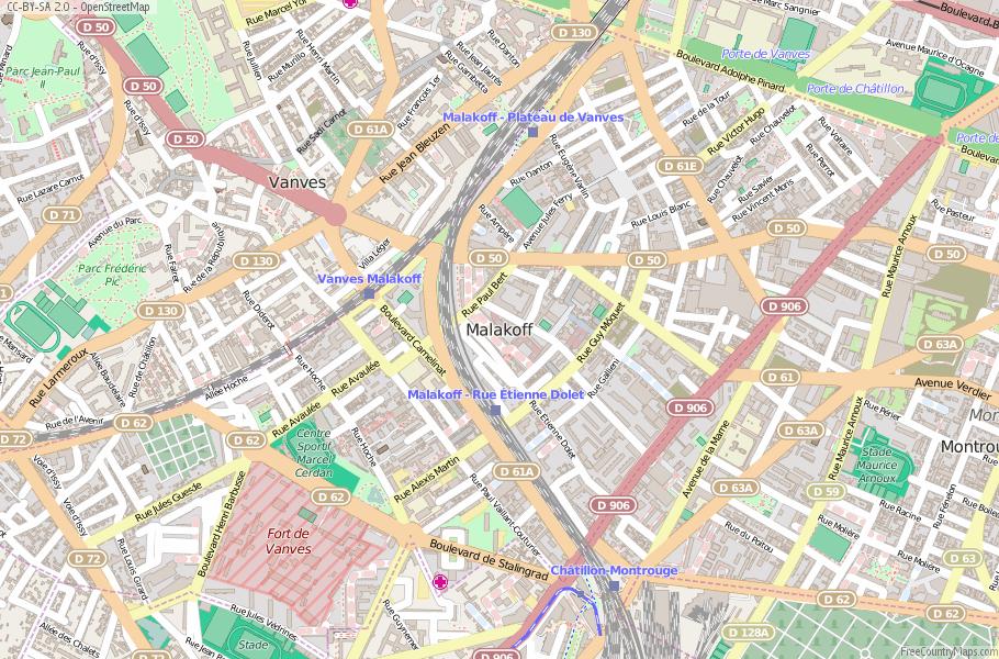 Malakoff France Map