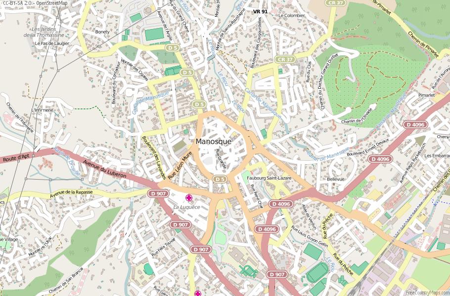 Manosque Map France Latitude Longitude Free Maps