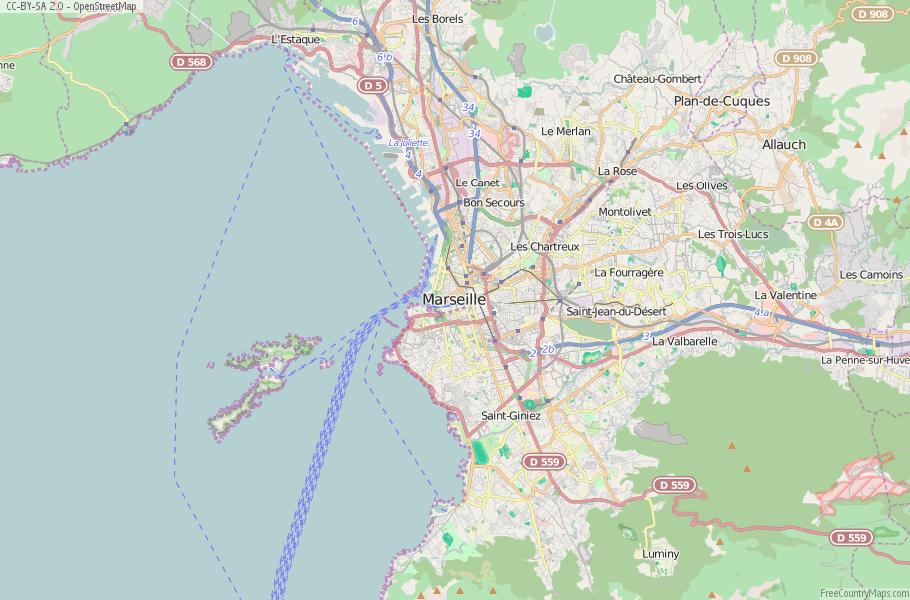 Marseille Map France Latitude Longitude Free Maps