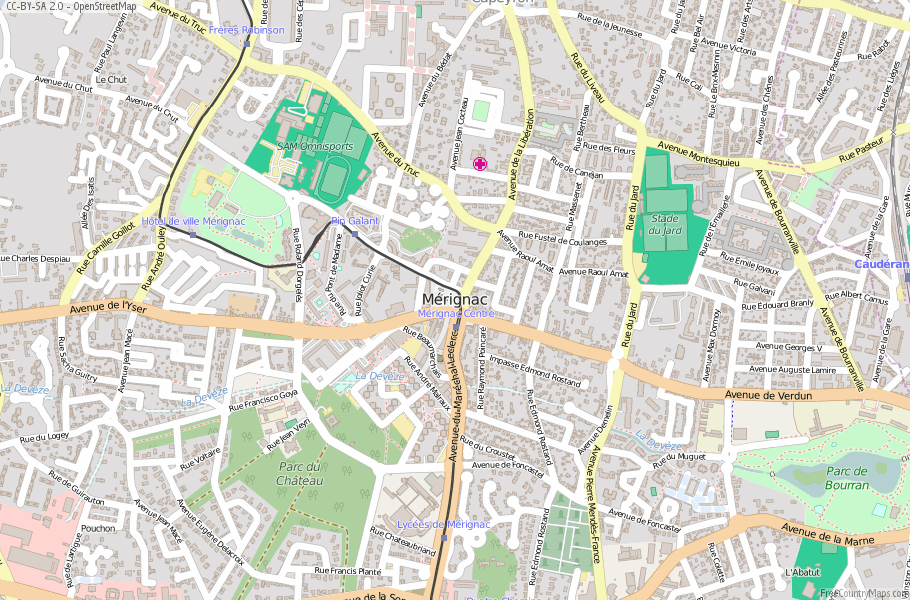 Mérignac France Map