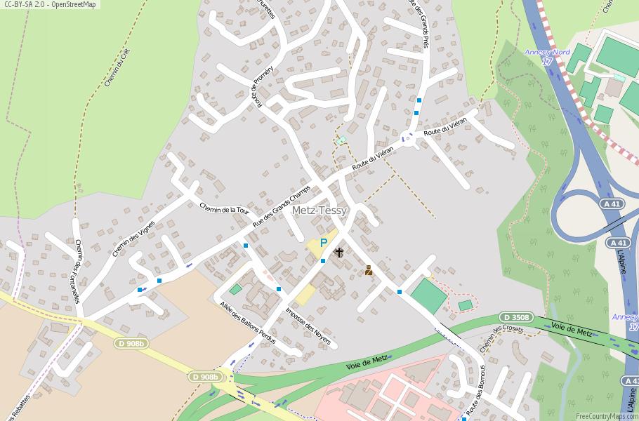A4 Map Of France.Metz Tessy Map France Latitude Longitude Free Maps