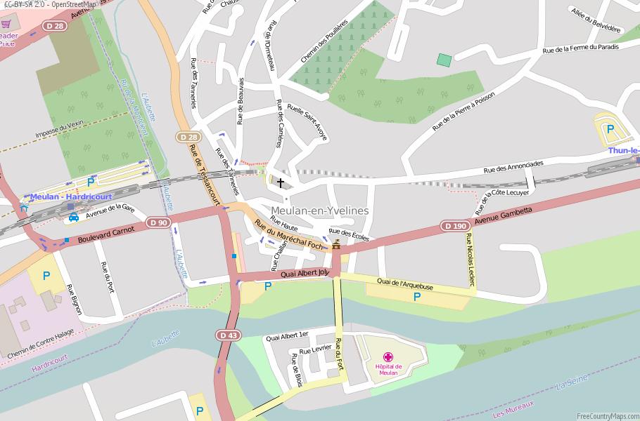 Map Of Yvelines France.Meulan En Yvelines Map France Latitude Longitude Free Maps