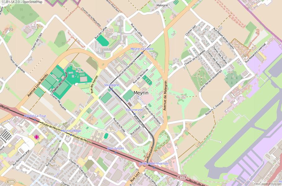 Meyrin Map France Latitude Longitude Free France Maps