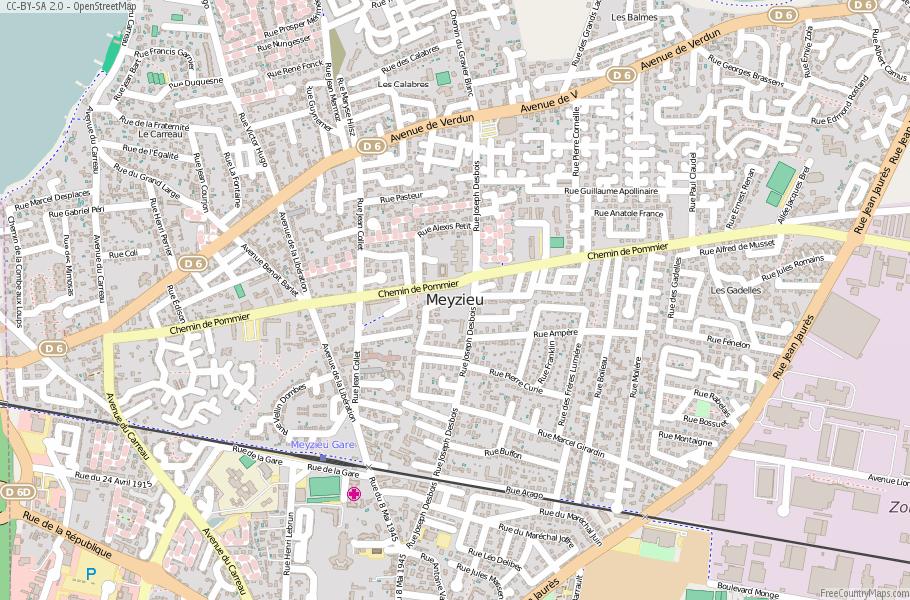 Meyzieu France Map