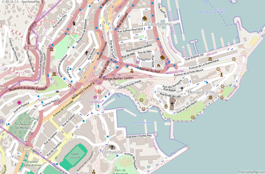 Monaco On Map Of France.Monaco Map France Latitude Longitude Free Maps