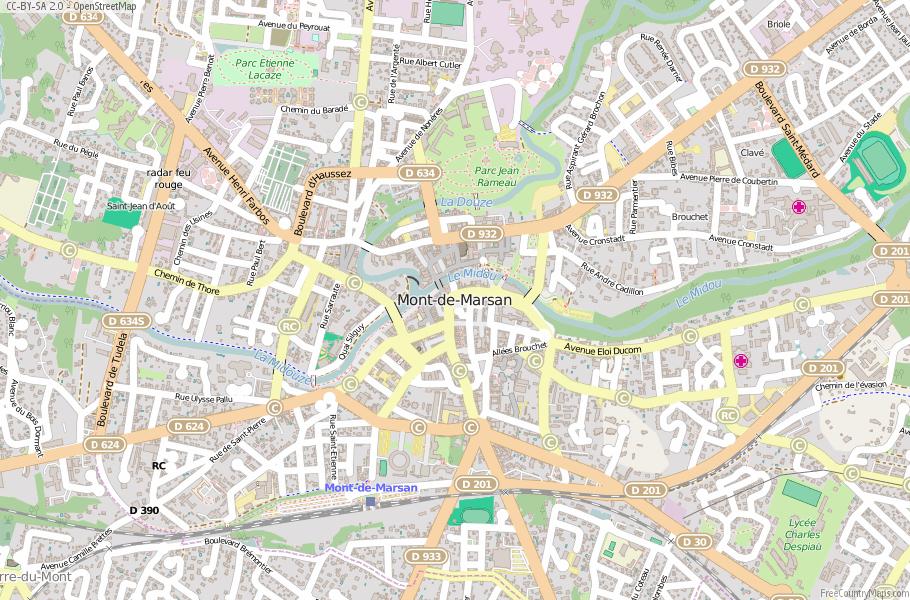 Mont-de-Marsan France Map