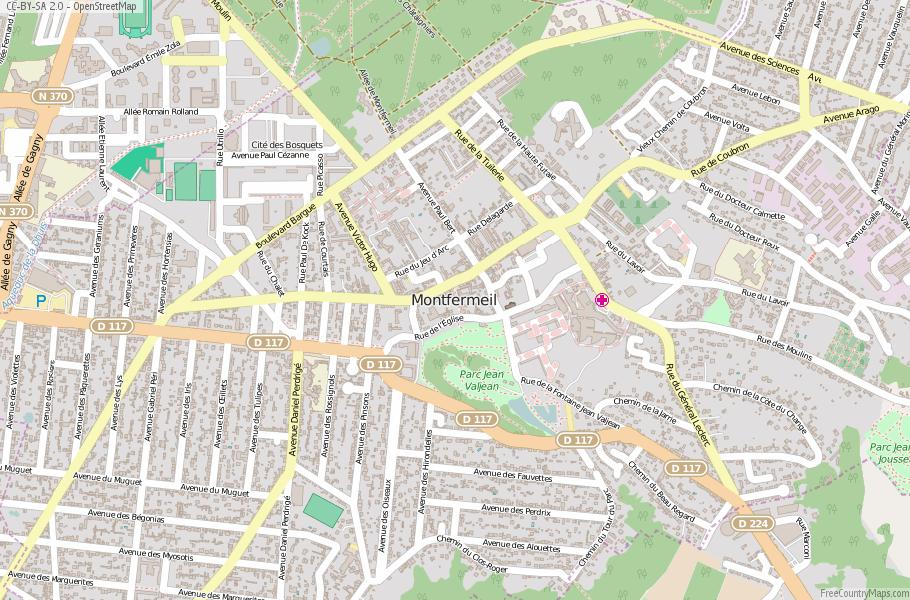 Montfermeil France Map