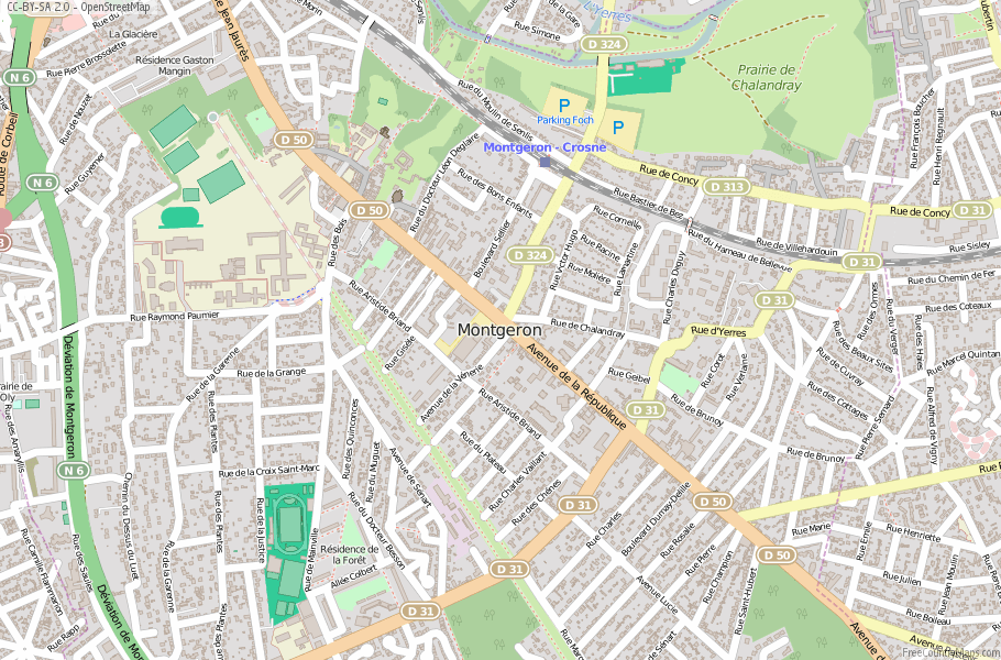 Montgeron France Map