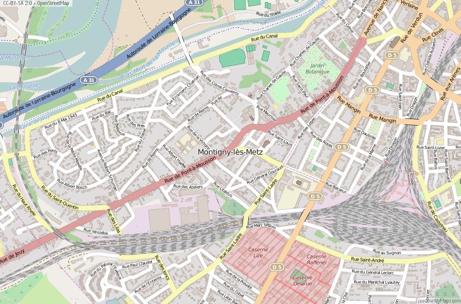 Montigny-lès-Metz France Map