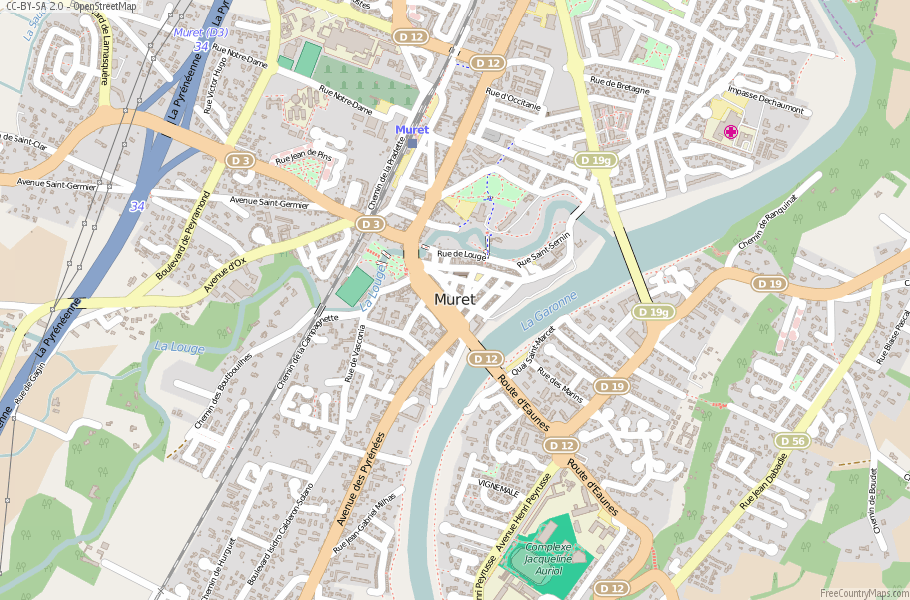 Muret France Map