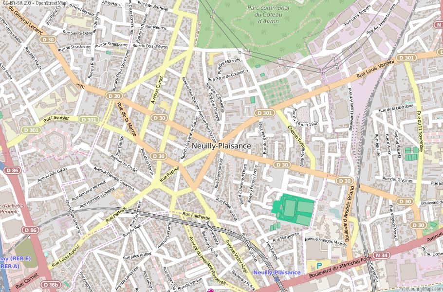 Neuilly Plaisance Map France Latitude Longitude Free