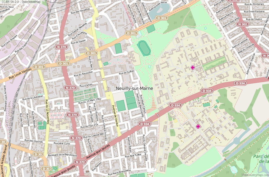 Neuilly-sur-Marne France Map