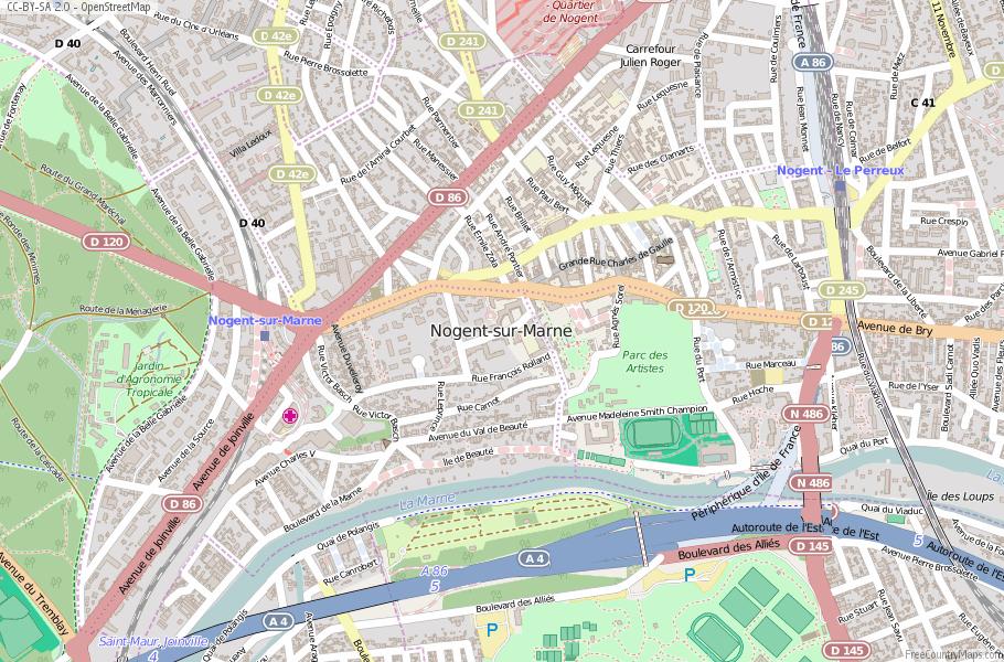 Nogent-sur-Marne France Map
