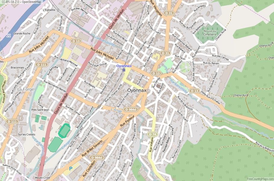Oyonnax France Map