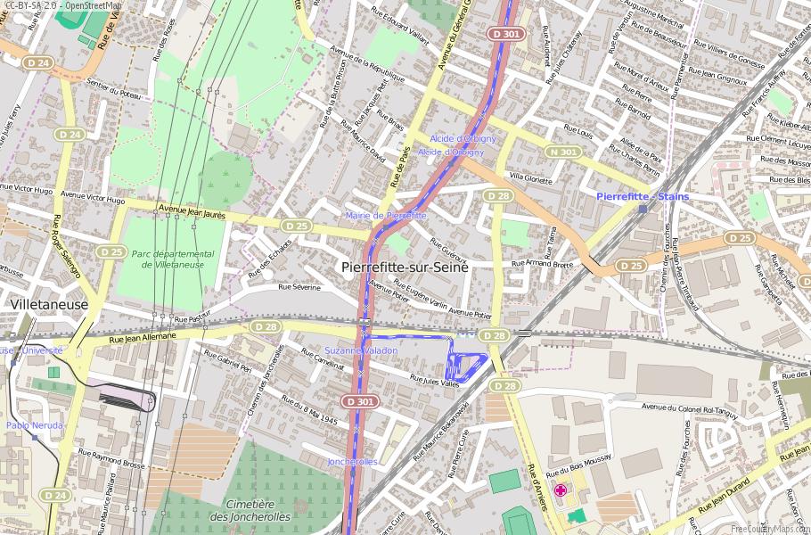Pierrefitte-sur-Seine France Map