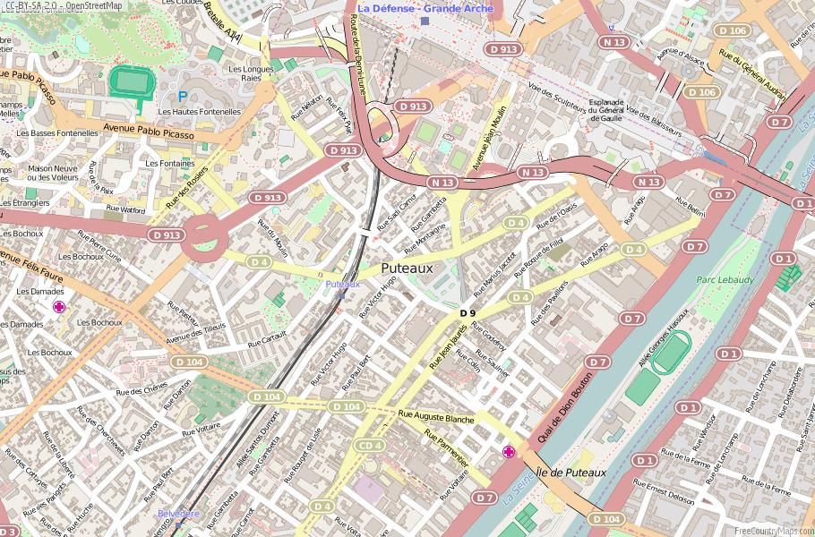 Puteaux France Map