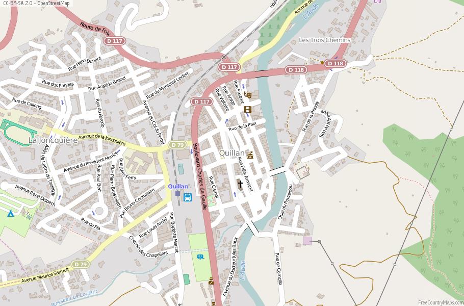Street Map Of Quillan France.Quillan Map France Latitude Longitude Free Maps